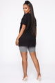 Fashion Never Fades Tunic Top - Black