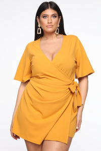 Thought Of You Romper - Mustard