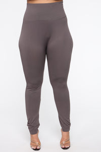 Smooth Operator High Rise Legging - Charcoal
