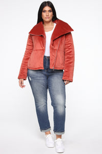 New York Winter Puffer Jacket - Rust Angle 7
