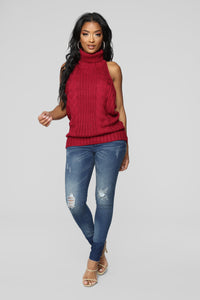 Sweet Bella Sweater - Burgundy