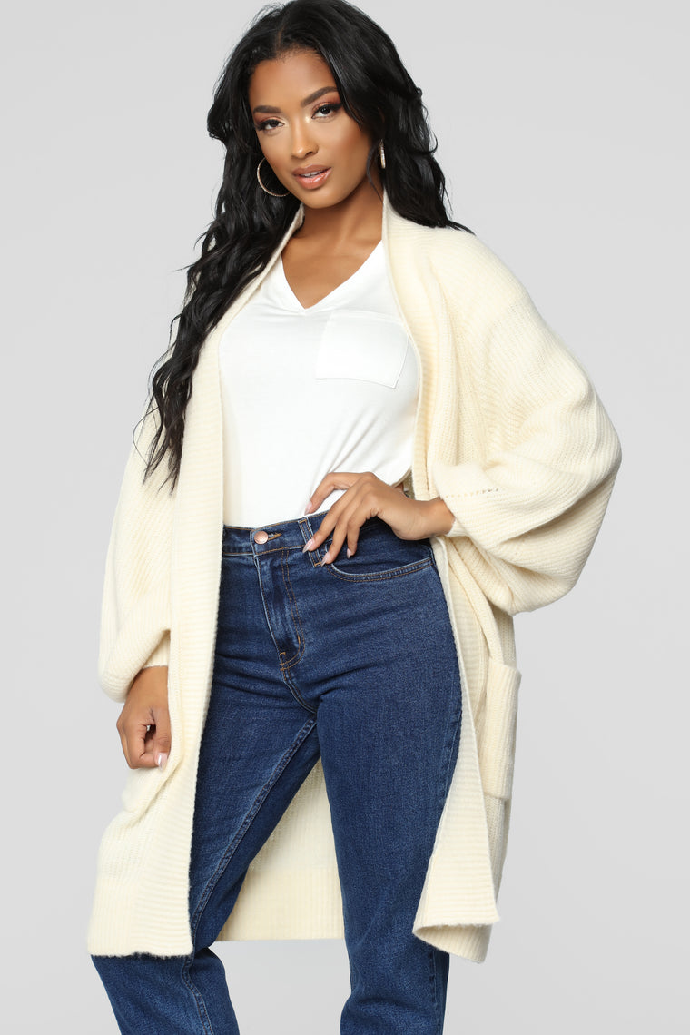Miss Me Duster - Cream