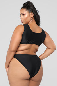 Calling All Angels Bikini Set - Black