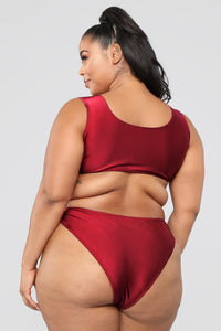Calling All Angels Bikini Set - Burgundy