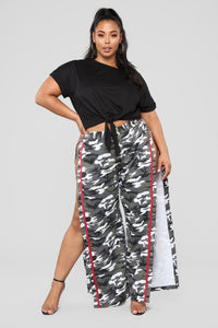 Snip Snaps Camo Pants - Grey/Red