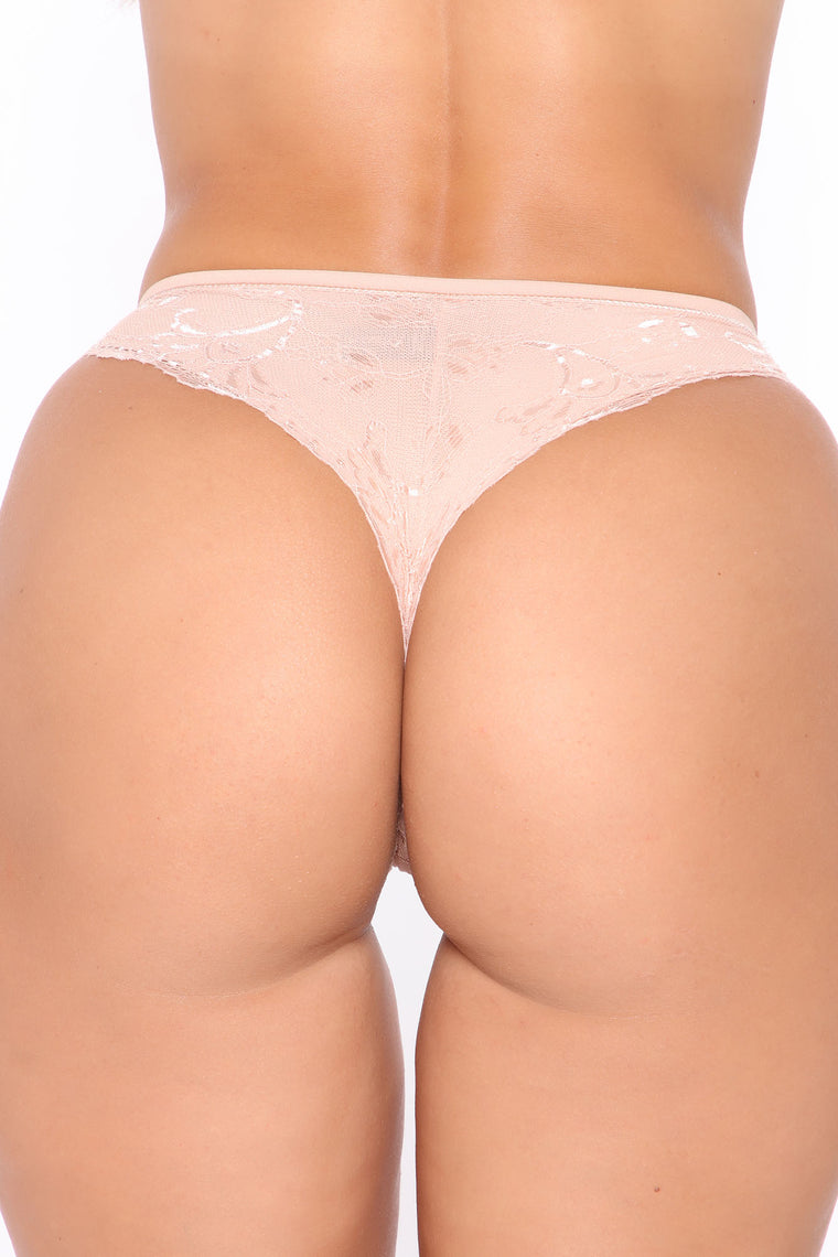 Daily Lover Lace Tanga 3 Pack Panties - Natural/Combo