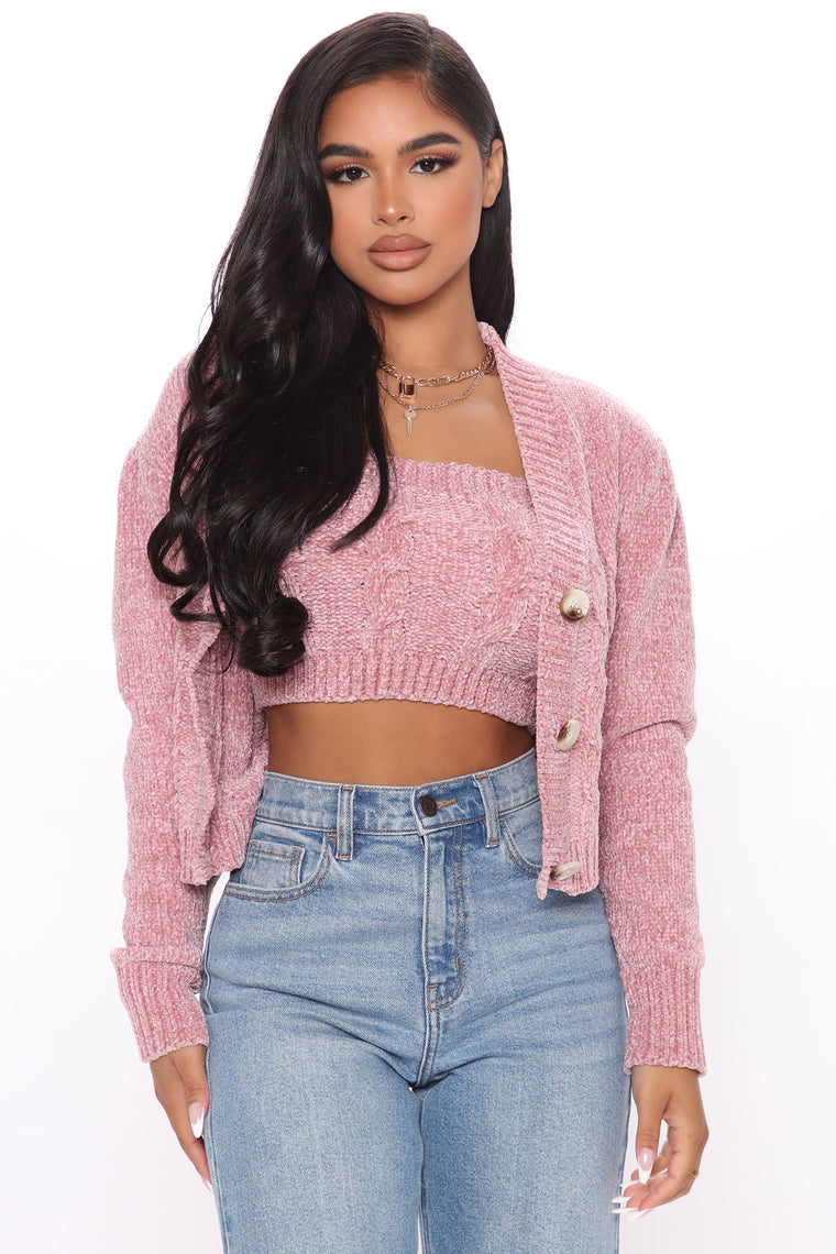 Catch My Vibe Sweater Set - Mauve