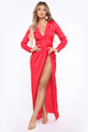 Don't Slip Away Maxi Dress - Red
