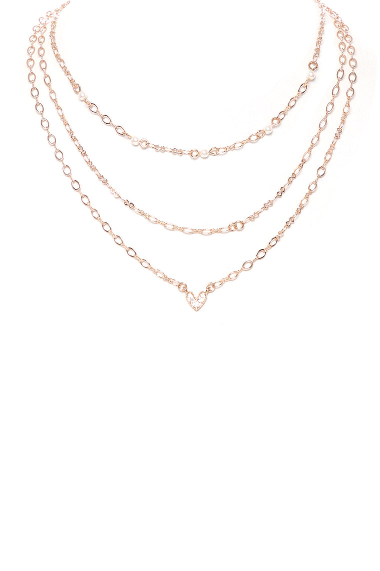 Meant To Be Necklace Set - Gold