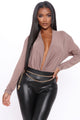 Cowl Hearted Long Sleeve - Mocha