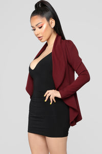 Meet And Greet Blazer - Burgundy