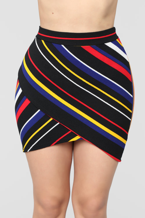 Merrilyn Striped Skirt - Multi