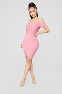 Made For You Dress - Mauve Angle 1