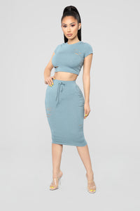 Casual Lover Skirt - Cyan