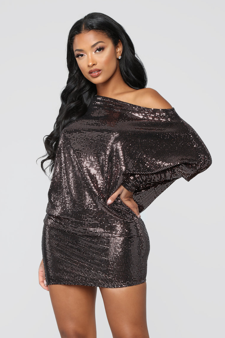 Club Vibes Dress - Copper