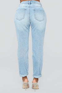 Up And Away Skinny Jeans - Light Blue Wash