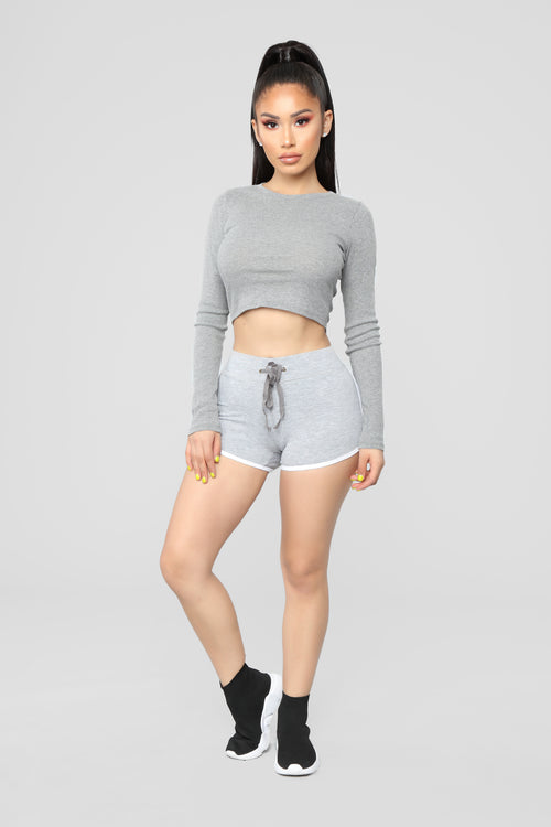Keep It Simple Shorts - Heather Grey