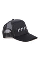 Stay Fresh Trucker Hat - Black/White