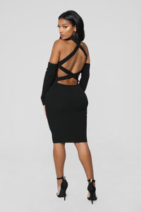 The Realest Ribbed Dress - Black