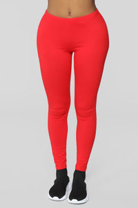 Almost Daily Layering Leggings - Red