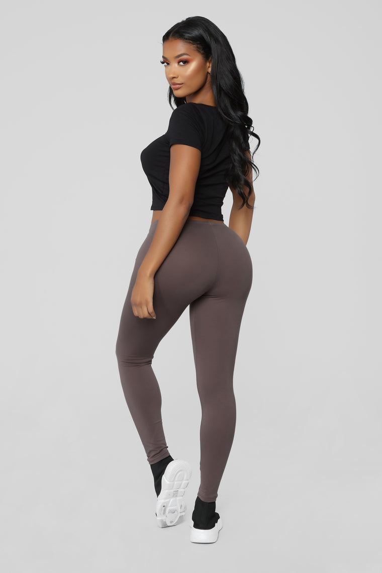 Almost Daily Layering Leggings - Mocha