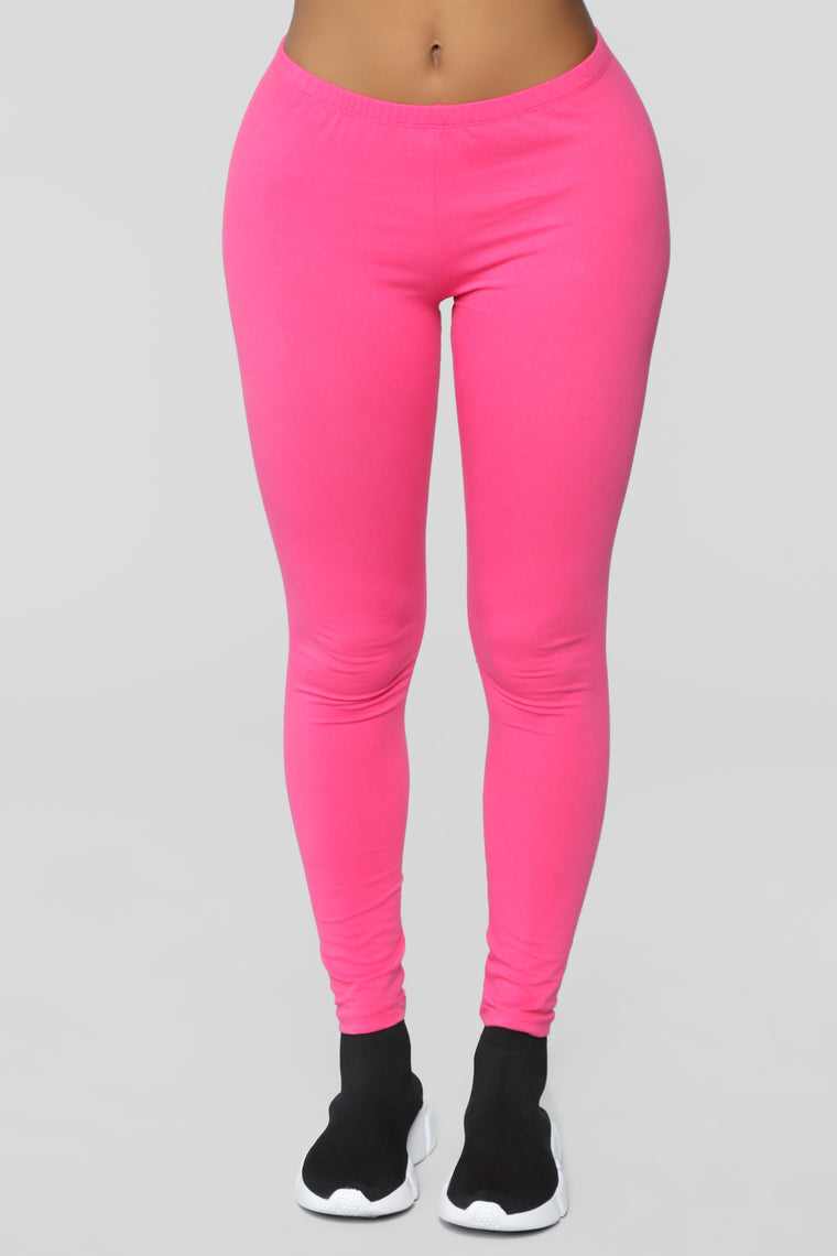 Almost Daily Layering Leggings - Fuchsia