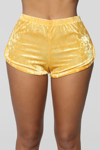 Got A Crush On You Dolphin Shorts - Mustard