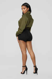 Taking The Lead Jacket - Olive