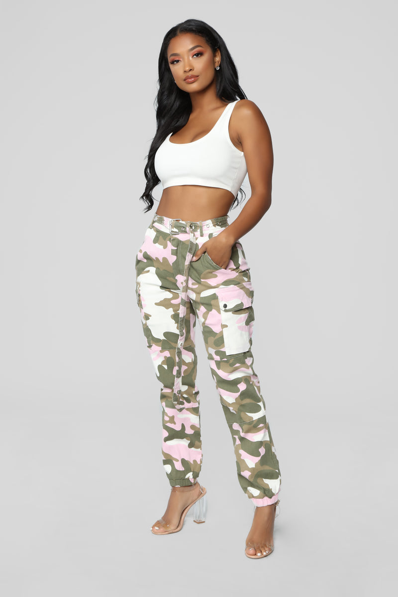 Want It My Way Jogger - Pink/White