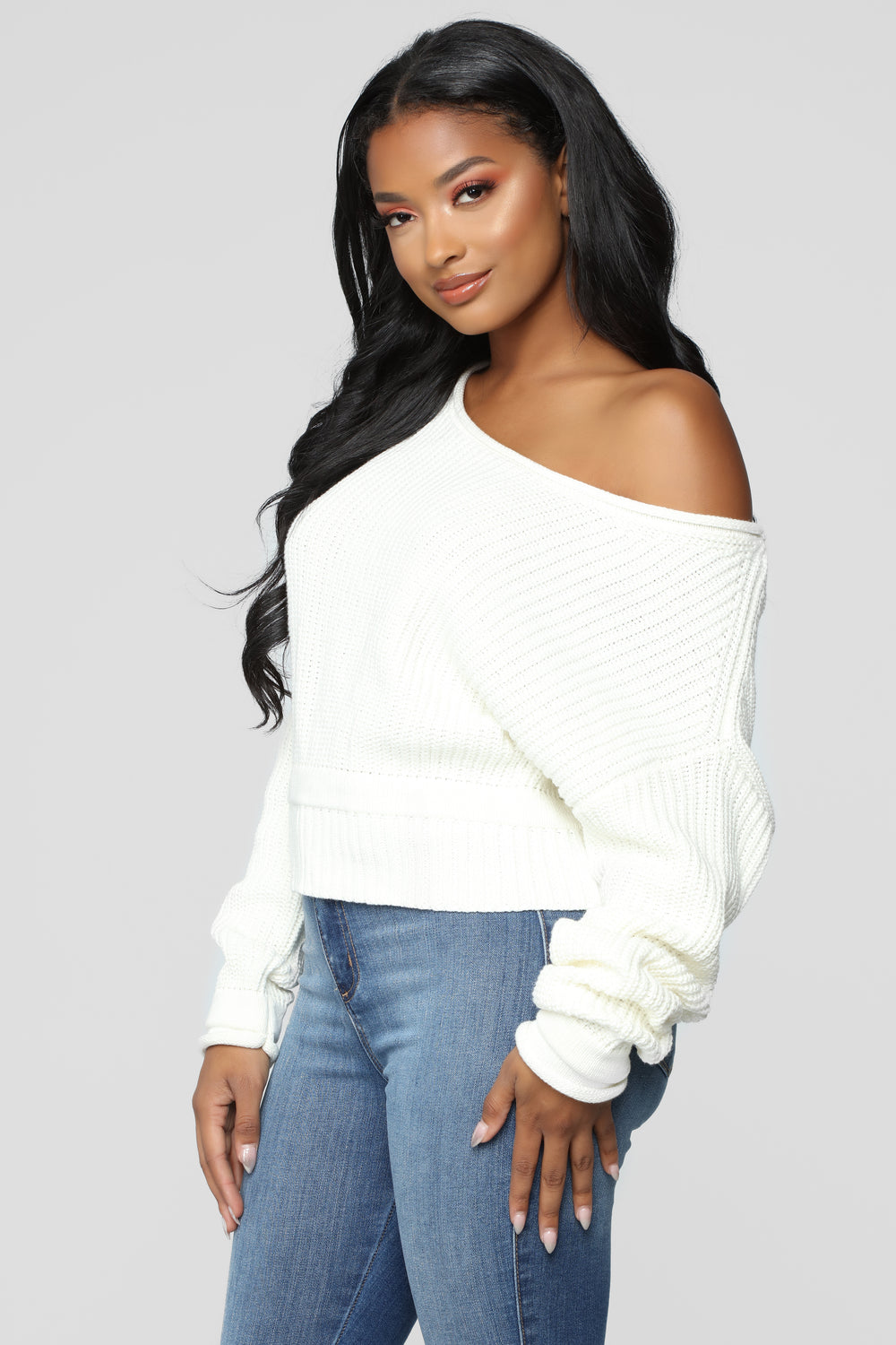 Eve Cropped Sweater - Ivory