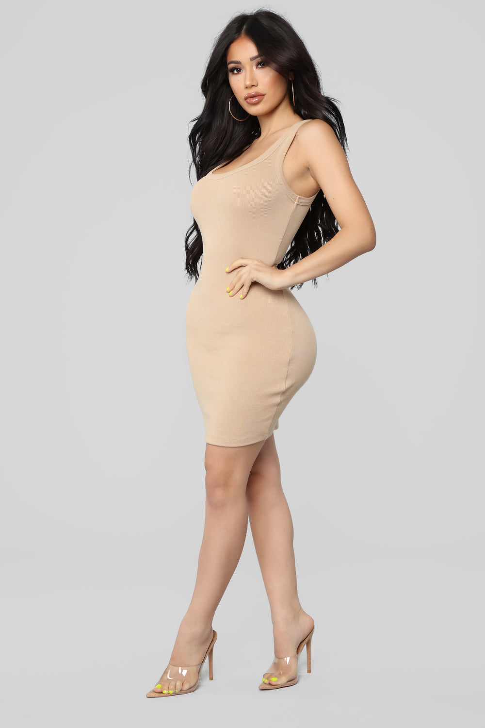 One of the Boys Dress - Nude