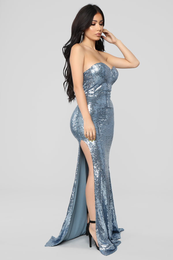 08251772fa Ice Blue Queen Sequin Dress - Icy Blue