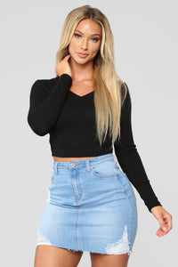 Anytime Crop Top - Black