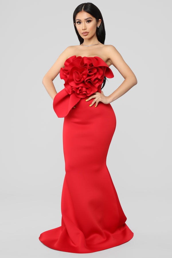 Prize Worthy Mermaid Gown - Red c7e4c7bd0