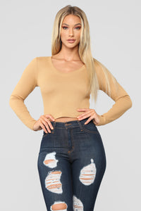 Anytime Crop Top - Mustard