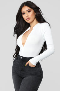 Grind Time Beyond Long Sleeve Bodysuit - White