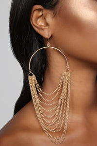 Came Through Draping Earrings - Gold