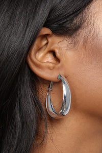 Taken For A Loop Earrings - Silver