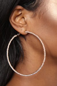 Baby Twist And Shout Earring Set - Rose Gold Angle 7