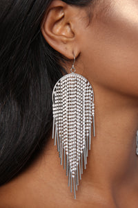 That's How You Feel Earrings - Silver