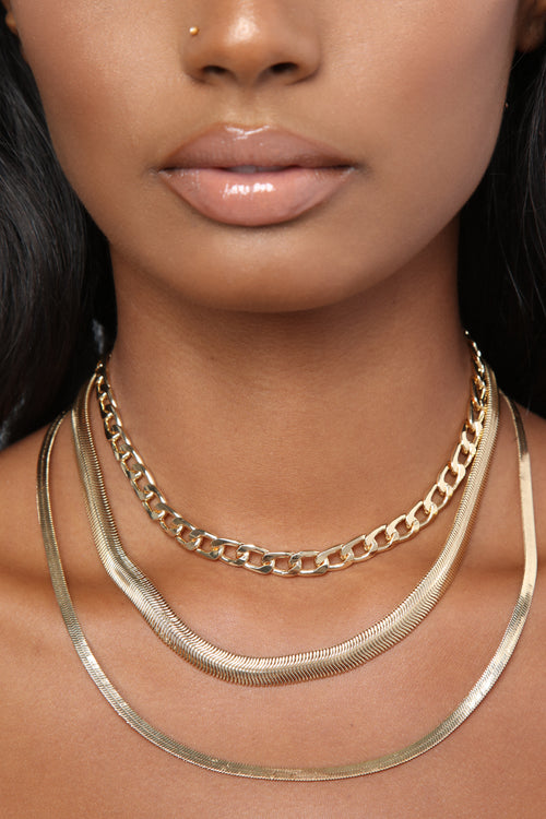 Travel In Packs Necklace Set - Gold