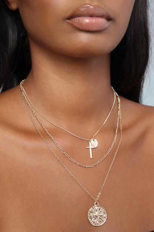 A Cross The Street Necklace - Gold