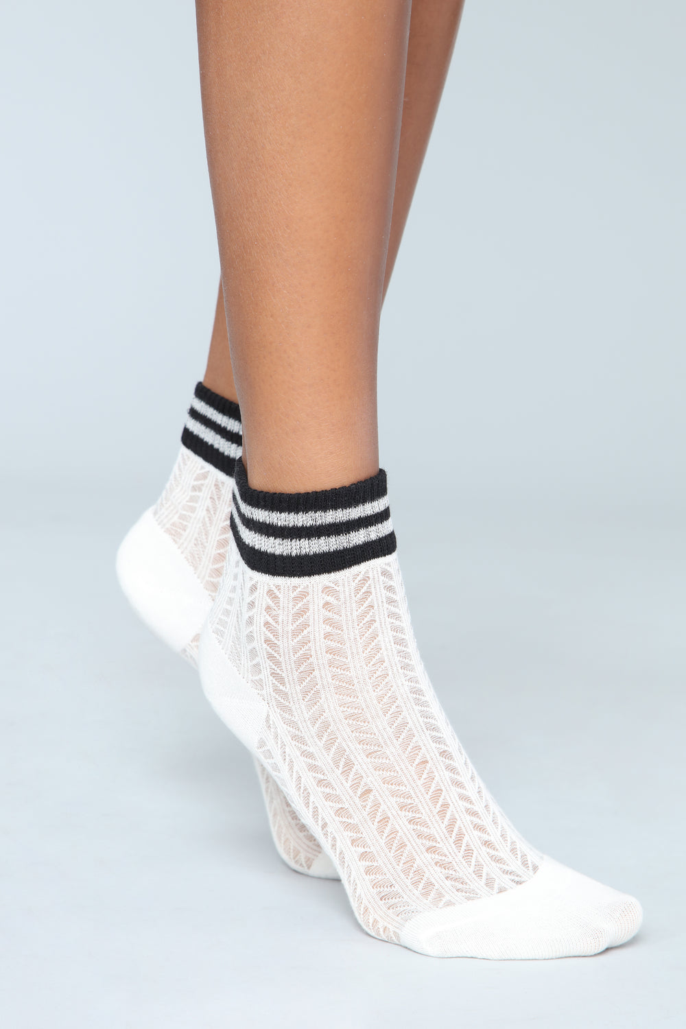 Only With My Crew Socks - White