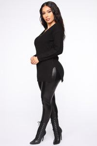 Georgina Caged Back Sweater - Black Angle 4