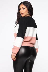 Tell Me More Sweater - Black/combo