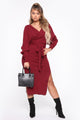 Warm Up To You Sweater Dress - Burgundy