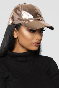To The Ball Game Baseball Cap - Gold