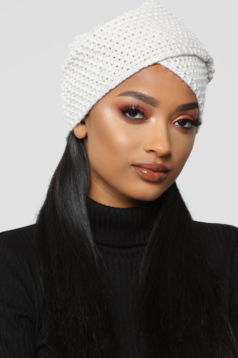 Knit Don't Quit Head Wrap - Beige