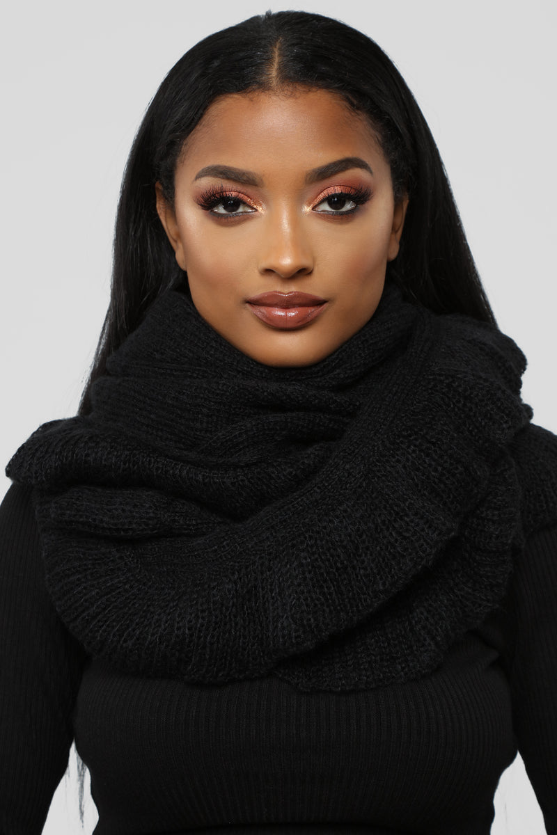 Ruffle Me Up Scarf - Black