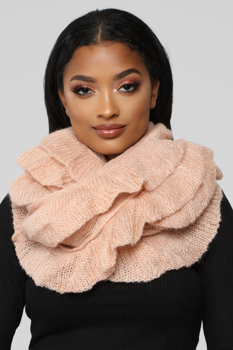 Ruffle Me Up Scarf - Pink